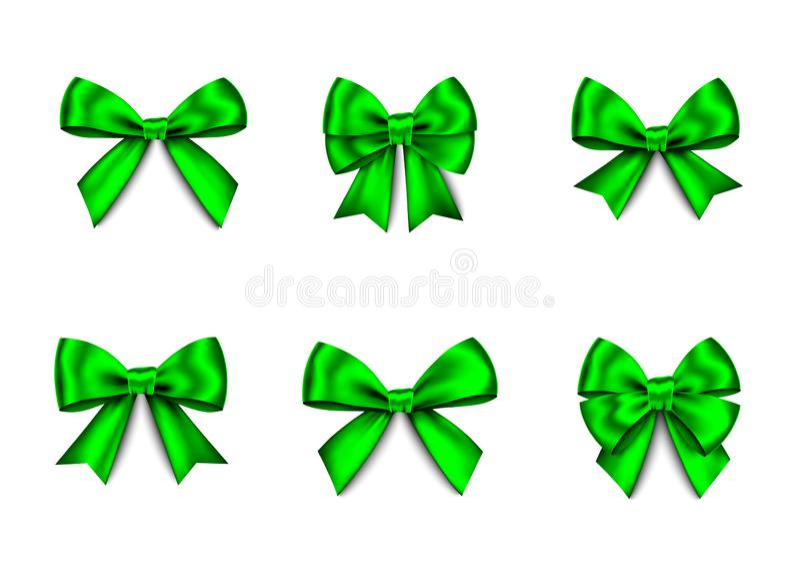 El regalo verde arquea el sistema para la Navidad, decoración del Año Nuevo libre illustration