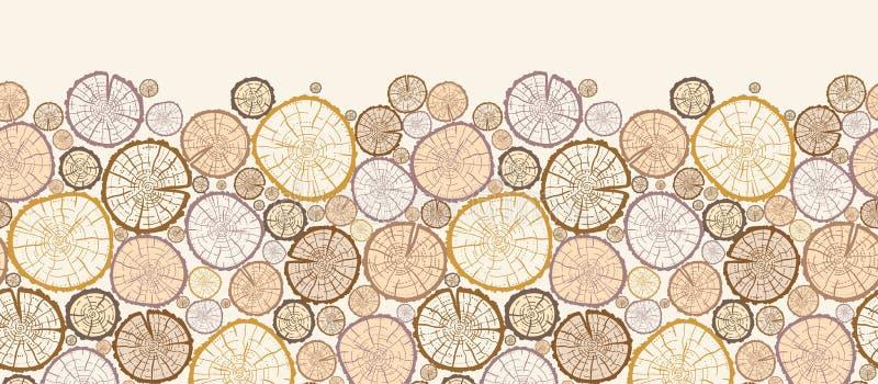 El registro de madera corta el modelo inconsútil horizontal libre illustration