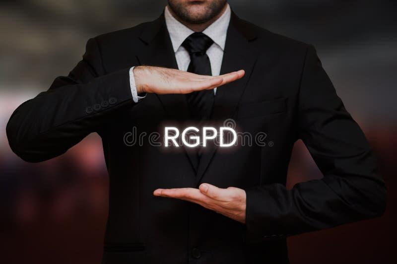EL Reglamento General de Proteccin de Datos RGPD foto de archivo libre de regalías