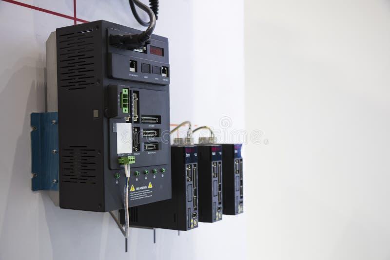 el regulador del PLC para la máquina industrial imagen de archivo