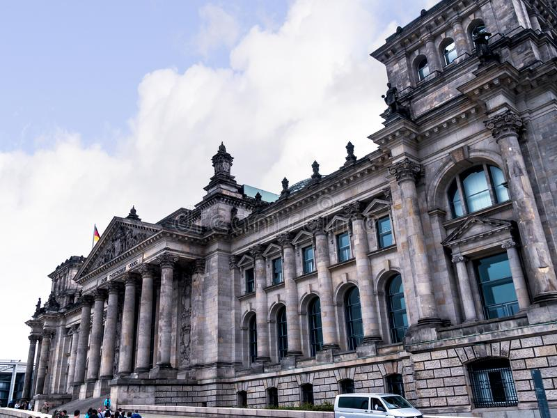 El Reichstag es un edificio histórico en Berlín, Alemania, construida para contener la dieta imperial del imperio alemán imágenes de archivo libres de regalías