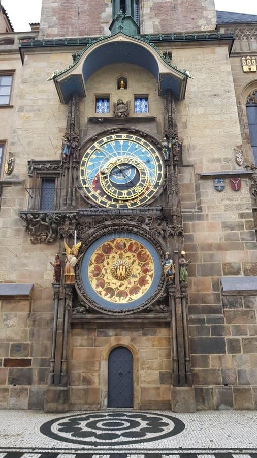 El reloj astronómico de Praga después de la reconstrucción imagen de archivo libre de regalías