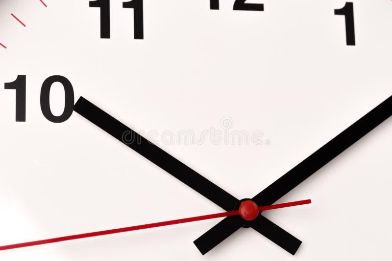El reloj blanco, se cierra encima de la visión imagenes de archivo