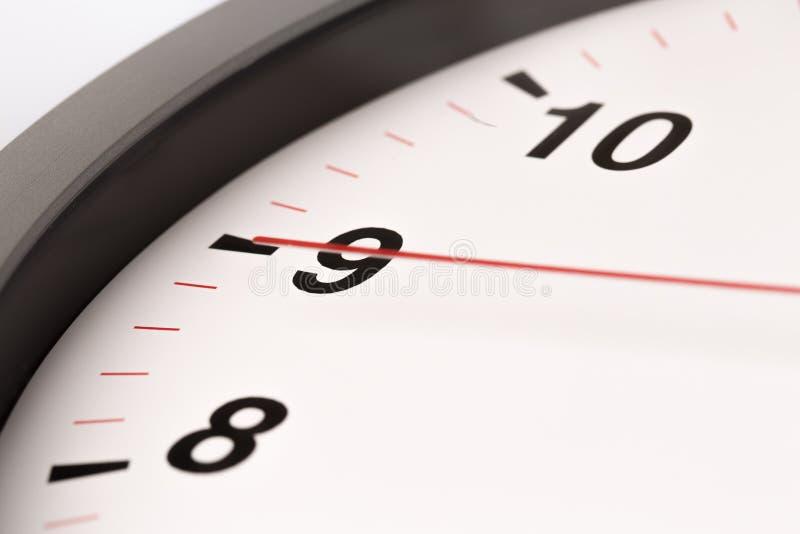 El reloj blanco, se cierra encima de la visión fotos de archivo libres de regalías