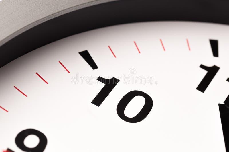 El reloj blanco, se cierra encima de la visión imagen de archivo libre de regalías