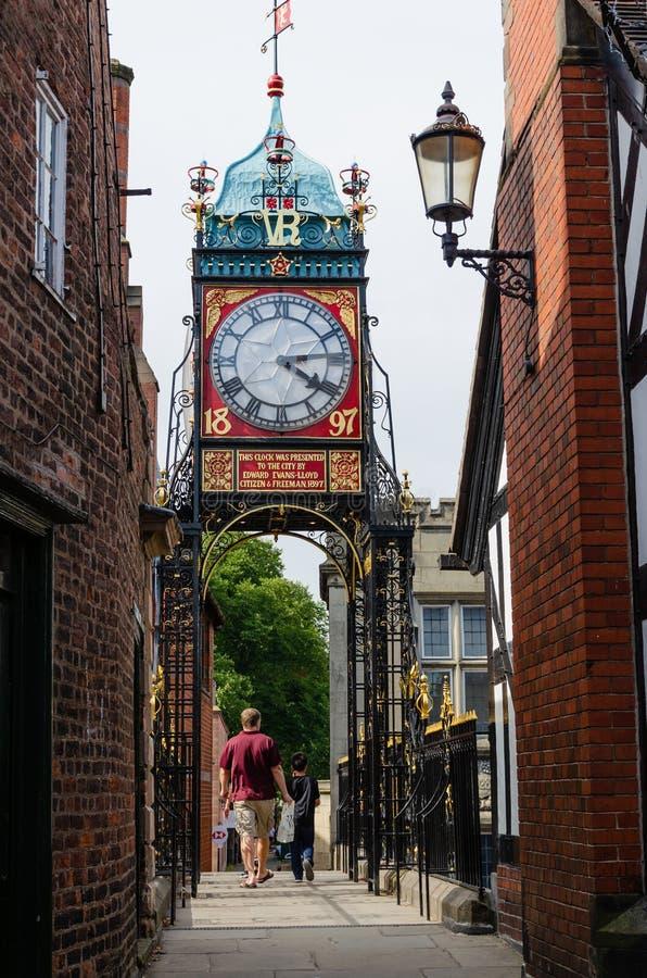 El reloj de Eastgate en Chester fotos de archivo libres de regalías