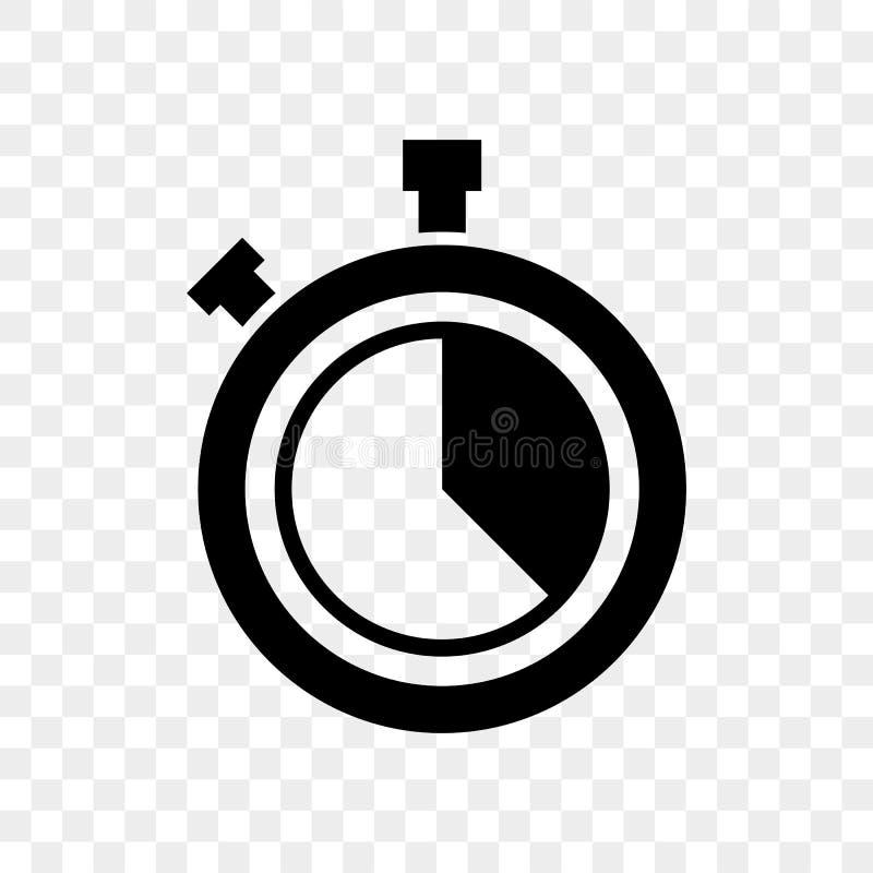 El reloj de la cuenta descendiente del cronómetro abotona el icono del vector stock de ilustración