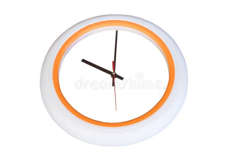 El reloj de la oficina del círculo muestra el reloj de diez o' fotografía de archivo libre de regalías