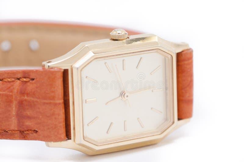 Download El reloj de oro de Ladys foto de archivo. Imagen de tiempo - 64207098