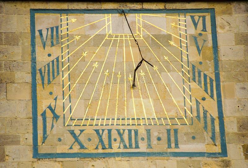 El reloj de sol imagen de archivo