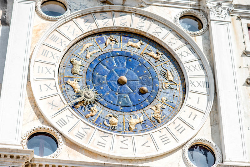 El reloj de St Mark en Venecia imágenes de archivo libres de regalías
