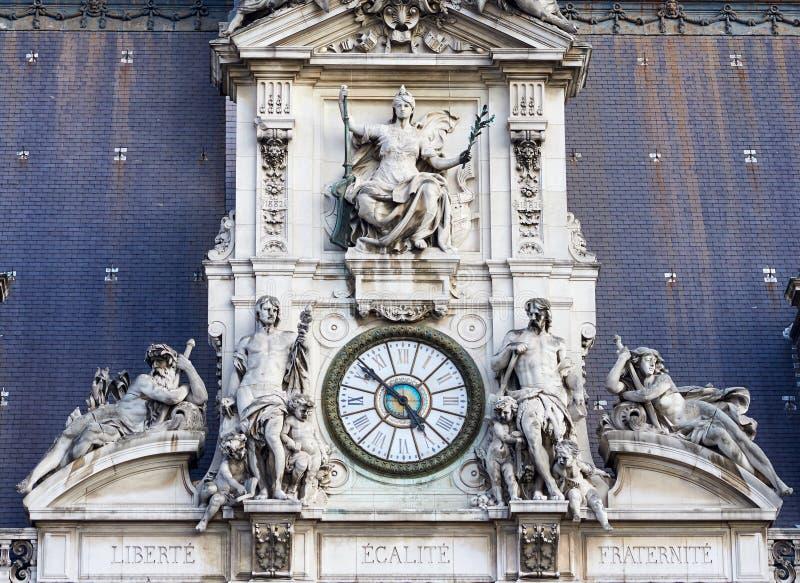 El reloj del hotel de Ville imágenes de archivo libres de regalías