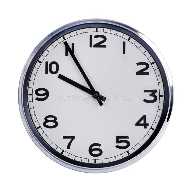 El reloj redondo de la oficina muestra las diez imagen de archivo