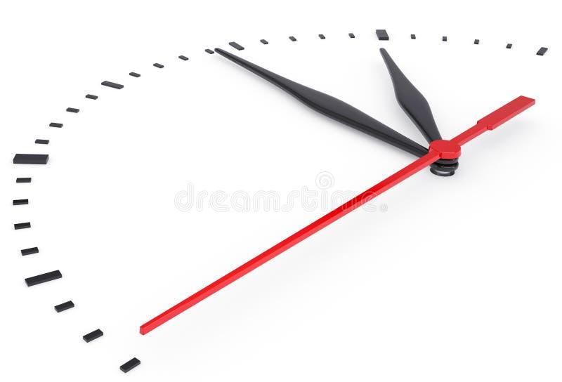 El reloj y el grupo fecha/hora sin números stock de ilustración