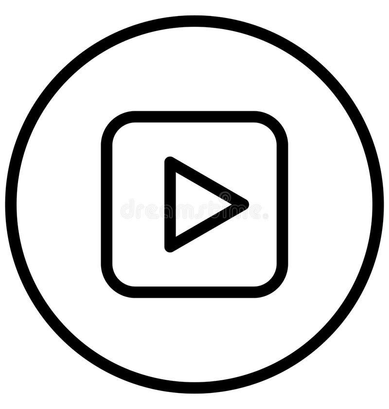 El reproductor multimedia aisl? el icono del vector que puede modificarse o corregir f?cilmente ilustración del vector