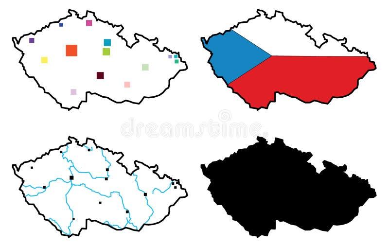 El Republuc checo stock de ilustración