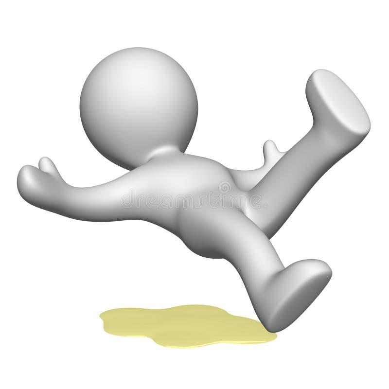 Download El resbalón y la caída stock de ilustración. Ilustración de falling - 41900505