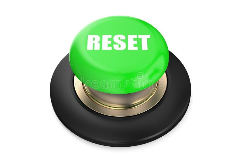 El reset pone verde el botón ilustración del vector