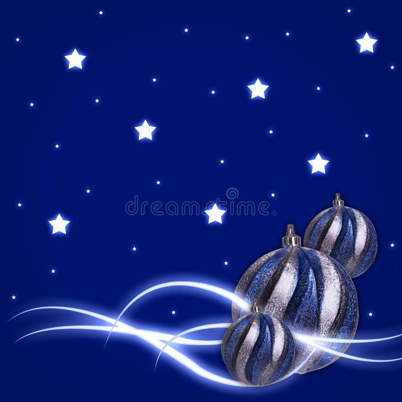 El resplandor stars bolas de la Navidad libre illustration