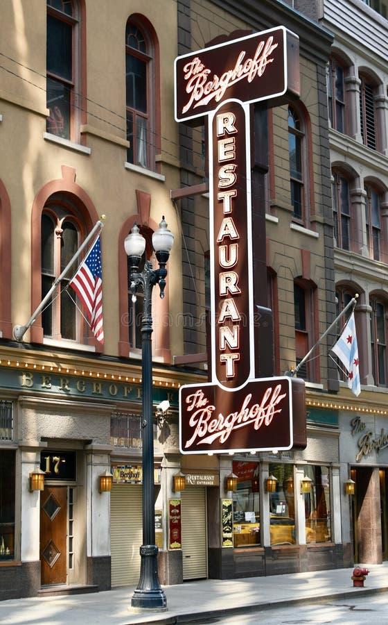 El restaurante de Berghoff imagen de archivo
