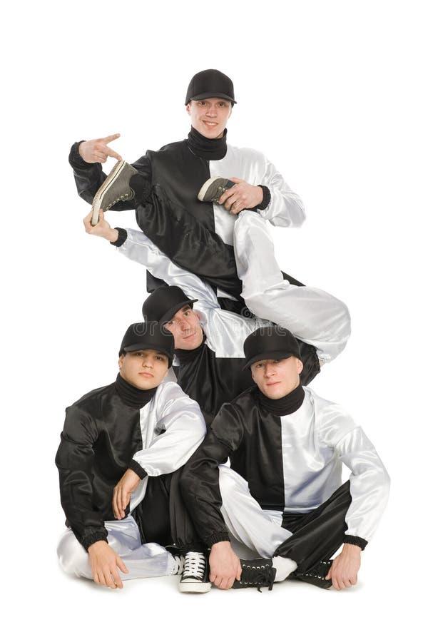 El retrato de personas de jóvenes rompe a bailarines foto de archivo