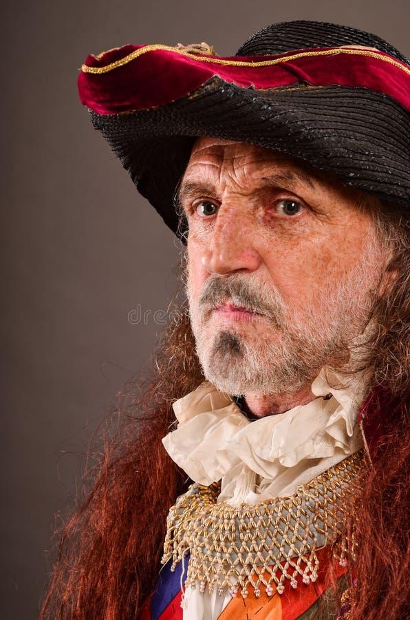 El retrato del viejo pirata fotos de archivo libres de regalías
