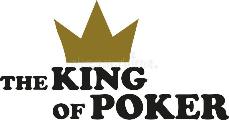 El rey del póker ilustración del vector