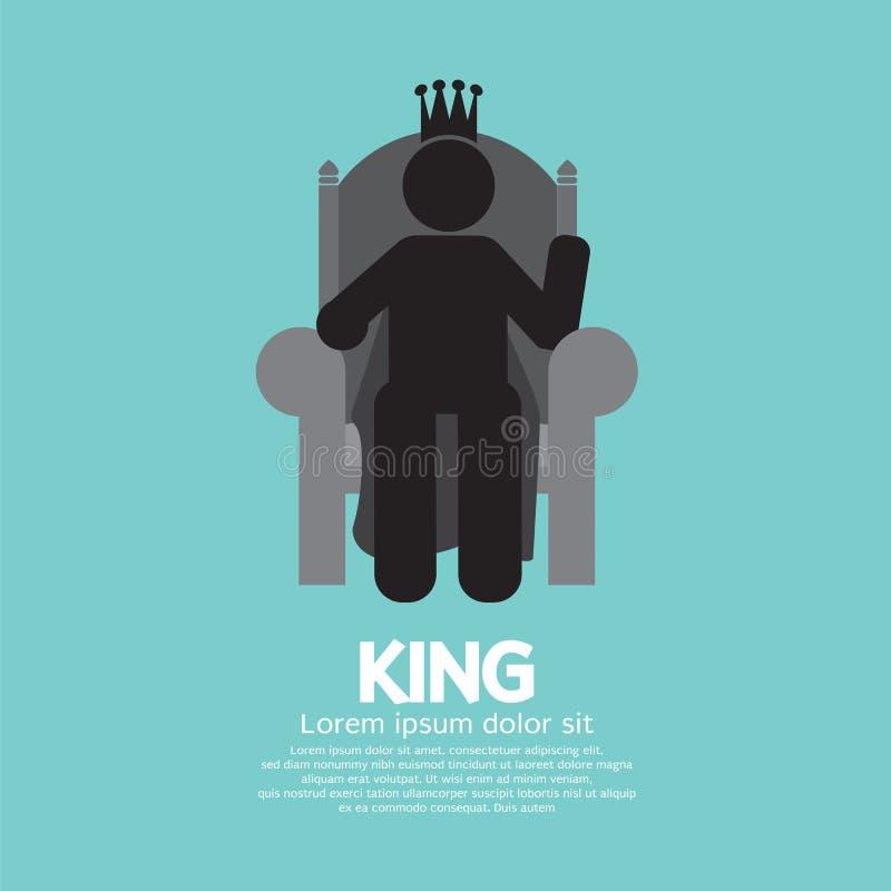 El rey With His Throne ilustración del vector