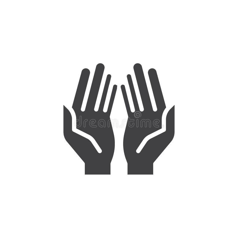 El rezo da el icono del vector ilustración del vector