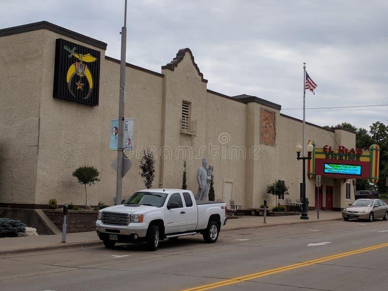 El Riad Shrine. Rs facility on the edge of downtown Sioux Falls, South Dakota stock photos