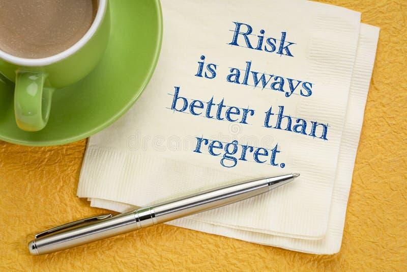 El riesgo es siempre mejor que pesar imagen de archivo