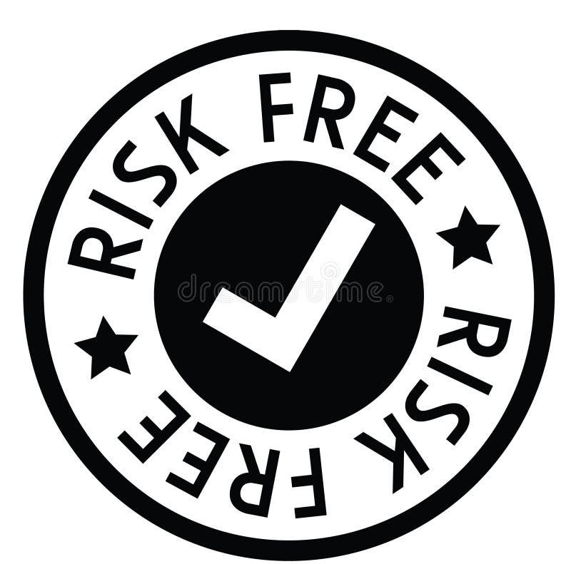 El riesgo libera el sello de goma ilustración del vector