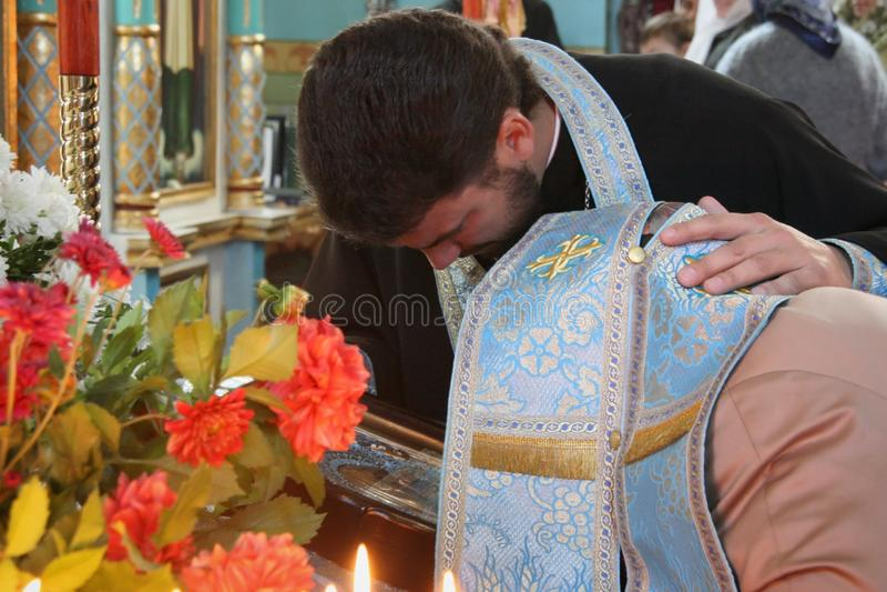 El rito de la confesión imagen de archivo libre de regalías