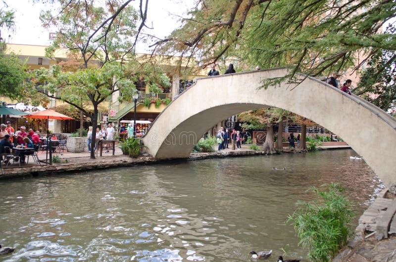 El riverwalk de San Antonio céntrico imágenes de archivo libres de regalías