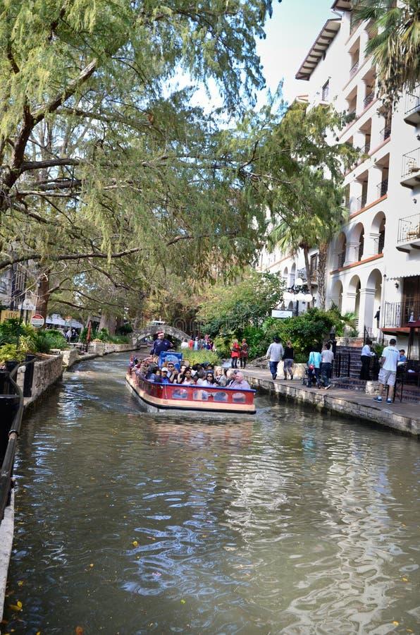 El riverwalk de San Antonio céntrico foto de archivo libre de regalías