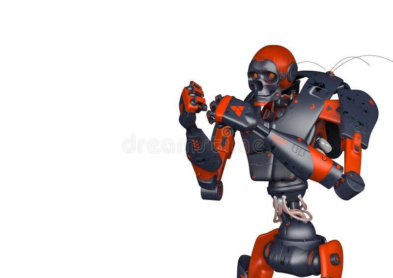 El robot apocalíptico quiere luchar libre illustration