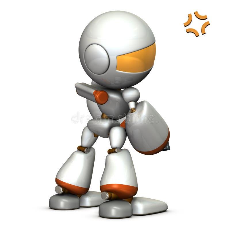 El robot del niño es gruñón stock de ilustración
