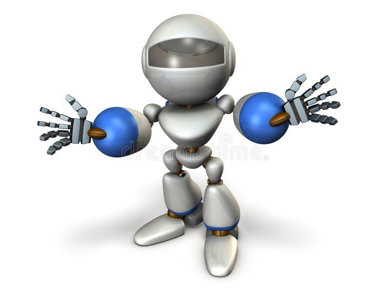 El robot del niño se está introduciendo stock de ilustración