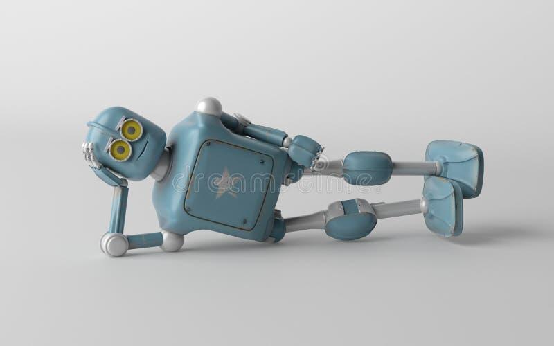 El robot es 3d de mentira, rinde stock de ilustración