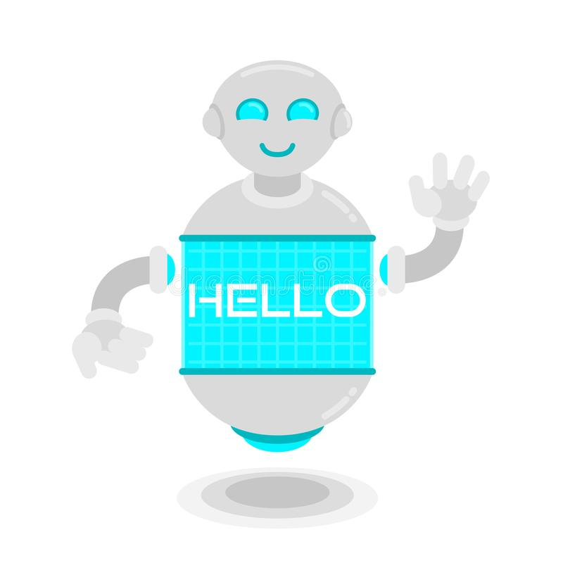 El robot futuro dice hola ilustración del vector