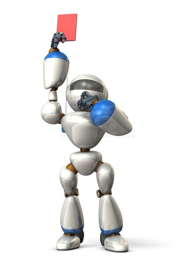 El robot ha presentado una imagen roja de card stock de ilustración