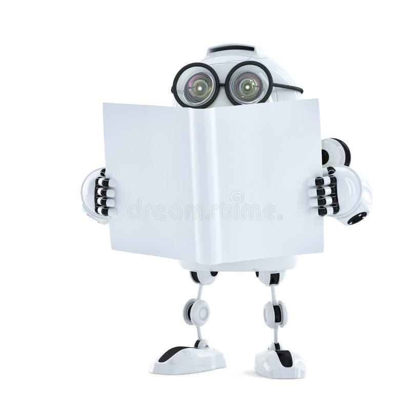 El robot lee un libro. Concepto de la tecnología libre illustration
