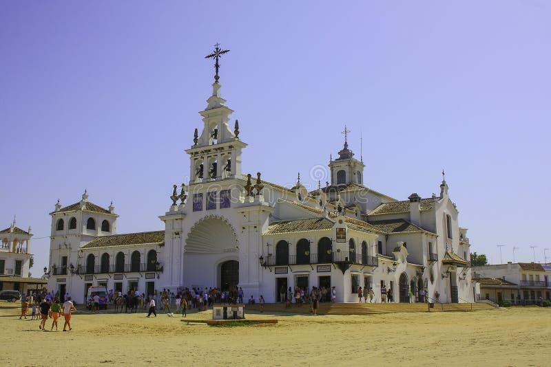 EL RocÃo, Almonte, Huelva, Andalusien, Spanien lizenzfreies stockbild
