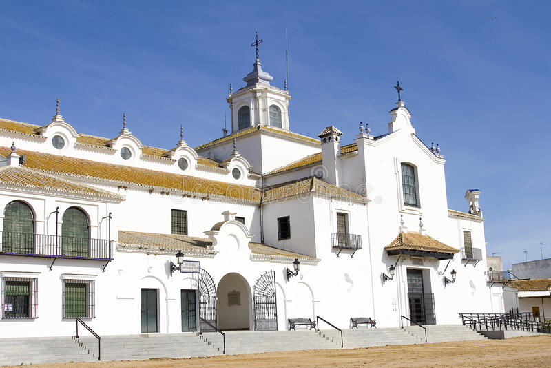 Download El Rocio, Spain stock image. Image of square, monument - 28769683