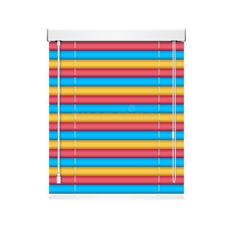 El rodillo realista de la persiana de la ventana del color Shutters persianas Vector libre illustration