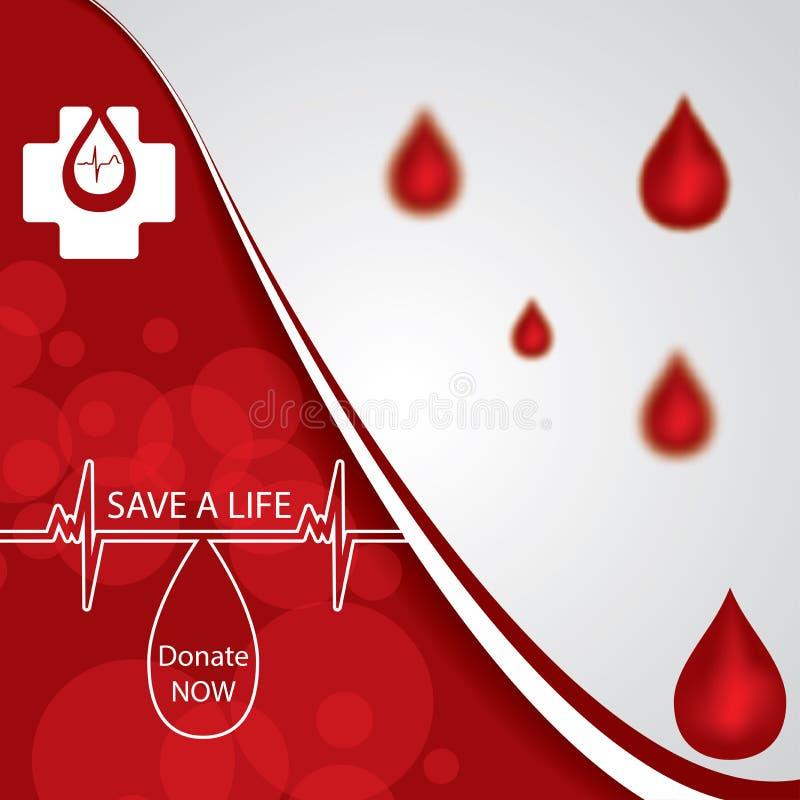 El rojo abstracto dona el fondo médico de la sangre libre illustration