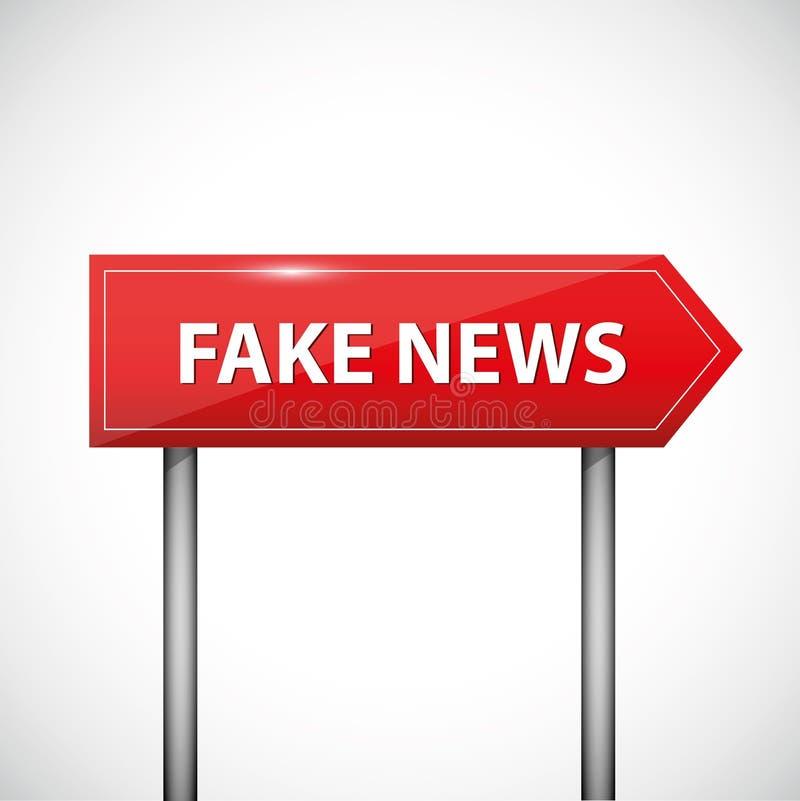 El rojo falso de los medios de noticias canta ilustración del vector