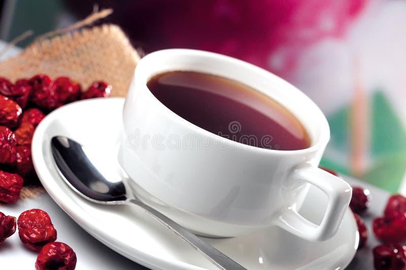 El rojo fecha té fotografía de archivo libre de regalías