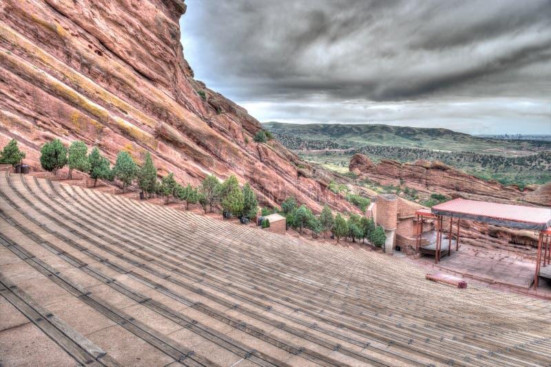 El rojo oscila el teatro Colorado imagen de archivo