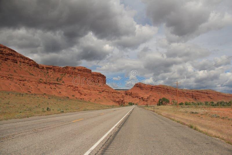 El rojo oscila viaje por carretera fotos de archivo libres de regalías